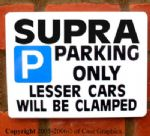 SUPRA ParkingSign for Toyota 3.0 twin turbo szr Gift